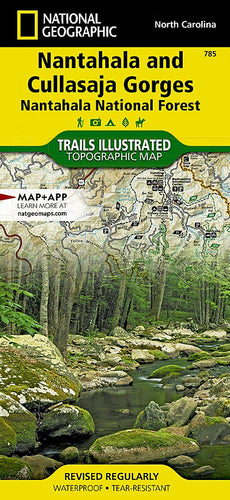 785 :: Nantahala and Cullasaja Gorges [Nantahala National Forest] Map Trails Illustrated Maps EVMAPLINK