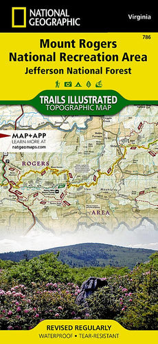 786 :: Mount Rogers National Recreation Area [Jefferson National Forest] Map Trails Illustrated Maps EVMAPLINK