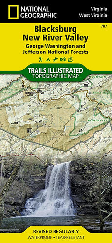787 :: Blacksburg New River Valley [George Washington and Jefferson National Forests] Map Trails Illustrated Maps EVMAPLINK