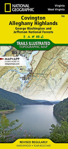 788 :: Covington Alleghany Highlands [George Washington and Jefferson National Forests] Map Trails Illustrated Maps EVMAPLINK