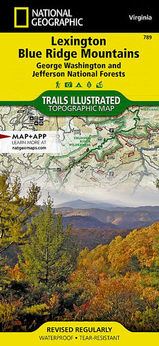 789 :: Lexington Blue Ridge Mts [George Washington and Jefferson National Forests] Map Trails Illustrated Maps EVMAPLINK