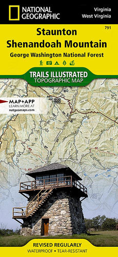 791 :: Staunton Shenandoah Mountain [George Washington and Jefferson National Forests] Map Trails Illustrated Maps EVMAPLINK