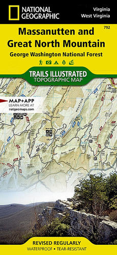 792 :: Massanutten and Great North Mountains [George Washington National Forest] Map Trails Illustrated Maps EVMAPLINK