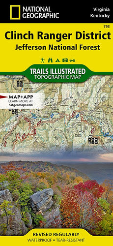 793 :: Clinch Ranger District [Jefferson National Forest] Map Trails Illustrated Maps EVMAPLINK