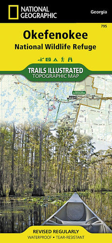795 :: Okefenokee National Wildlife Refuge Map Trails Illustrated Maps EVMAPLINK