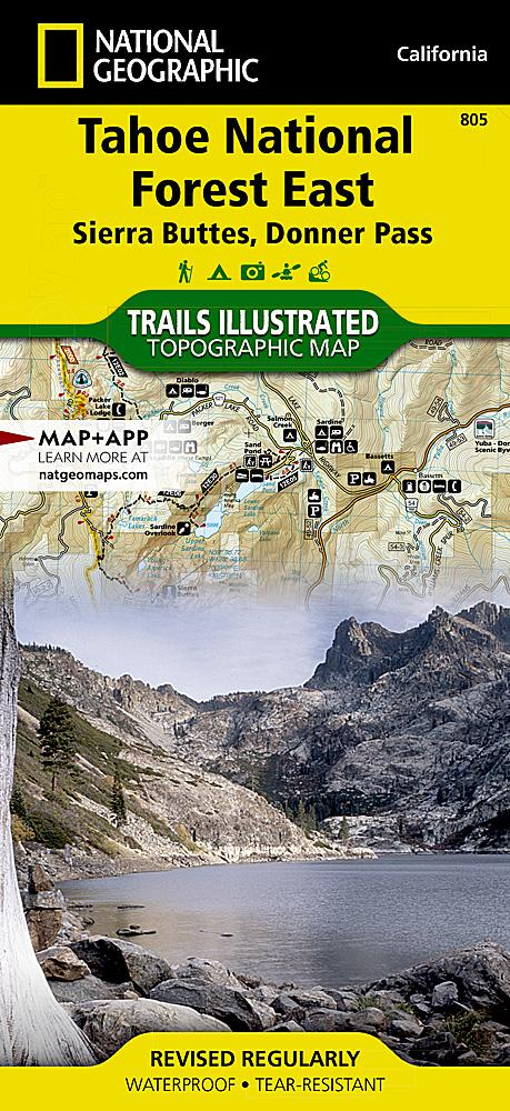 805 :: Tahoe National Forest East [Sierra Buttes Donner Pass] Map Trails Illustrated Maps EVMAPLINK