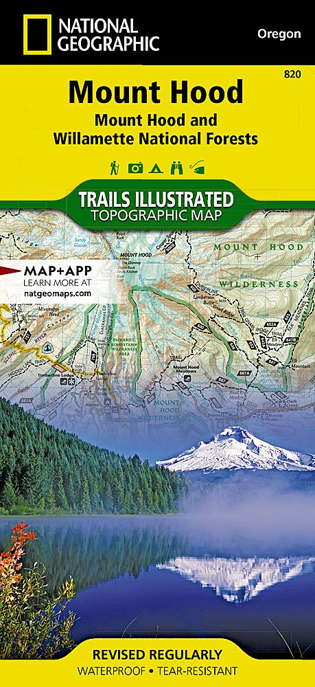 820 :: Mount Hood [Mount Hood and Willamette National Forests] Map Trails Illustrated Maps EVMAPLINK