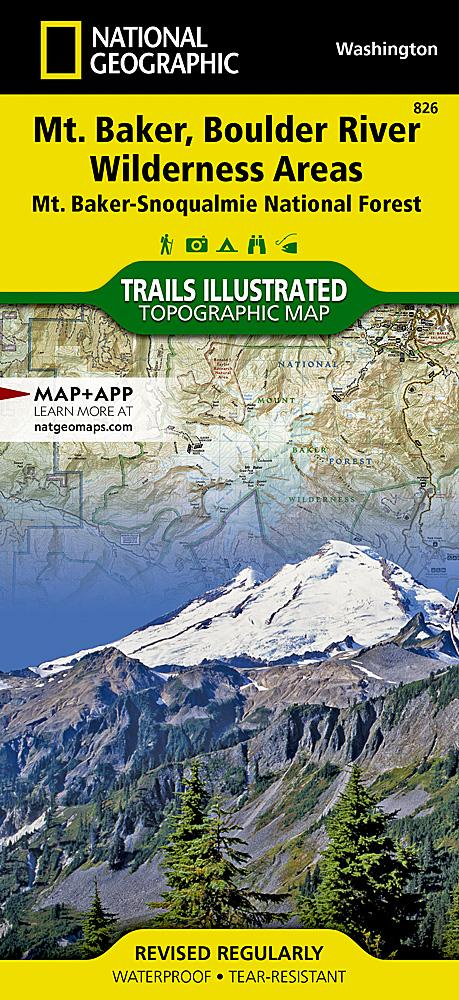 826 :: Mount Baker and Boulder River Wilderness Areas [Mt. Baker-Snoqualmie National Forest] Map Trails Illustrated Maps EVMAPLINK