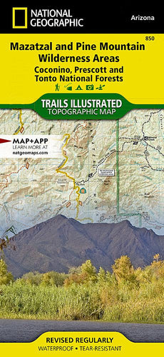 850 :: Mazatzal and Pine Mountain Wilderness Areas [Coconino Prescott and Tonto National Forests] Map Trails Illustrated Maps EVMAPLINK