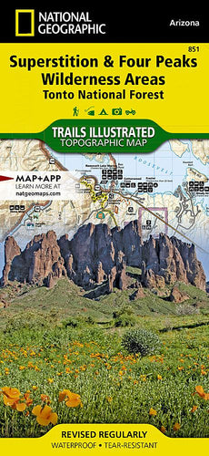 851 :: Superstition and Four Peaks Wilderness Areas [Tonto National Forest] Map Trails Illustrated Maps EVMAPLINK