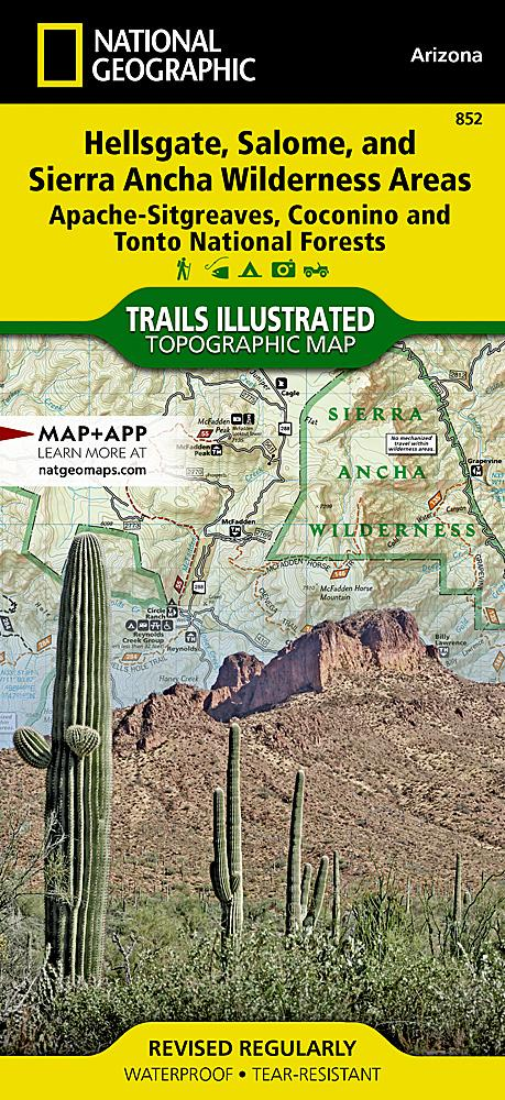 852 :: Hellsgate Salome and Sierra Ancha Wilderness Areas [Apache-Sitgreaves Coconino and Tonto National Forests] Map Trails Illustrated Maps EVMAPLINK