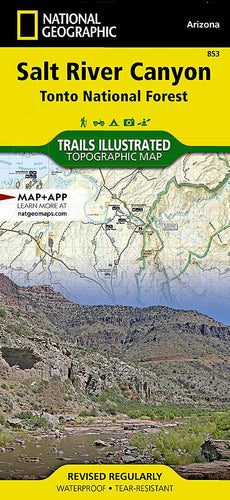 853 :: Salt River Canyon [Tonto National Forest] Map Trails Illustrated Maps EVMAPLINK