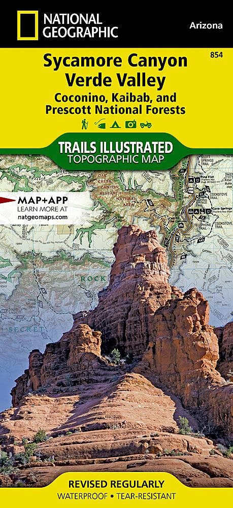 854 :: Sycamore Canyon Verde Valley [Coconino Kaibab and Prescott National Forests] Map Trails Illustrated Maps EVMAPLINK