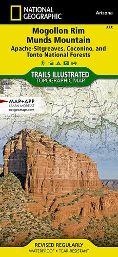 855 :: Mogollon Rim Munds Mountain [Apache-Sitgreaves Coconino and Tonto National Forests] Map Trails Illustrated Maps EVMAPLINK