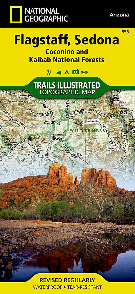 856 :: Flagstaff Sedona [Coconino and Kaibab National Forests] Map Trails Illustrated Maps EVMAPLINK