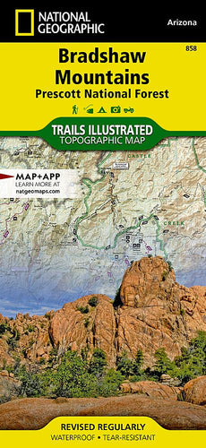 858 :: Bradshaw Mountains [Prescott National Forest] Map Trails Illustrated Maps EVMAPLINK