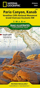 859 :: Paria Canyon Kanab [Vermillion Cliffs National Monument Grand Staircase-Escalante National Monument] Map Trails Illustrated Maps EVMAPLINK