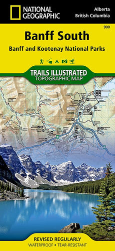 900 :: Banff South [Banff and Kootenay National Parks] Map Trails Illustrated Maps EVMAPLINK