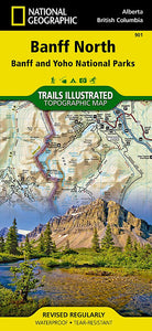 901 :: Banff North [Banff and Yoho National Parks] Map Trails Illustrated Maps EVMAPLINK