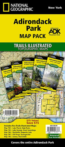 Adirondack Park [Map Pack Bundle] Trails Illustrated Maps Bundle Map-N-Hike