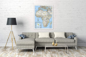 Africa Classic [Enlarged] Wall Maps EVMAPLINK