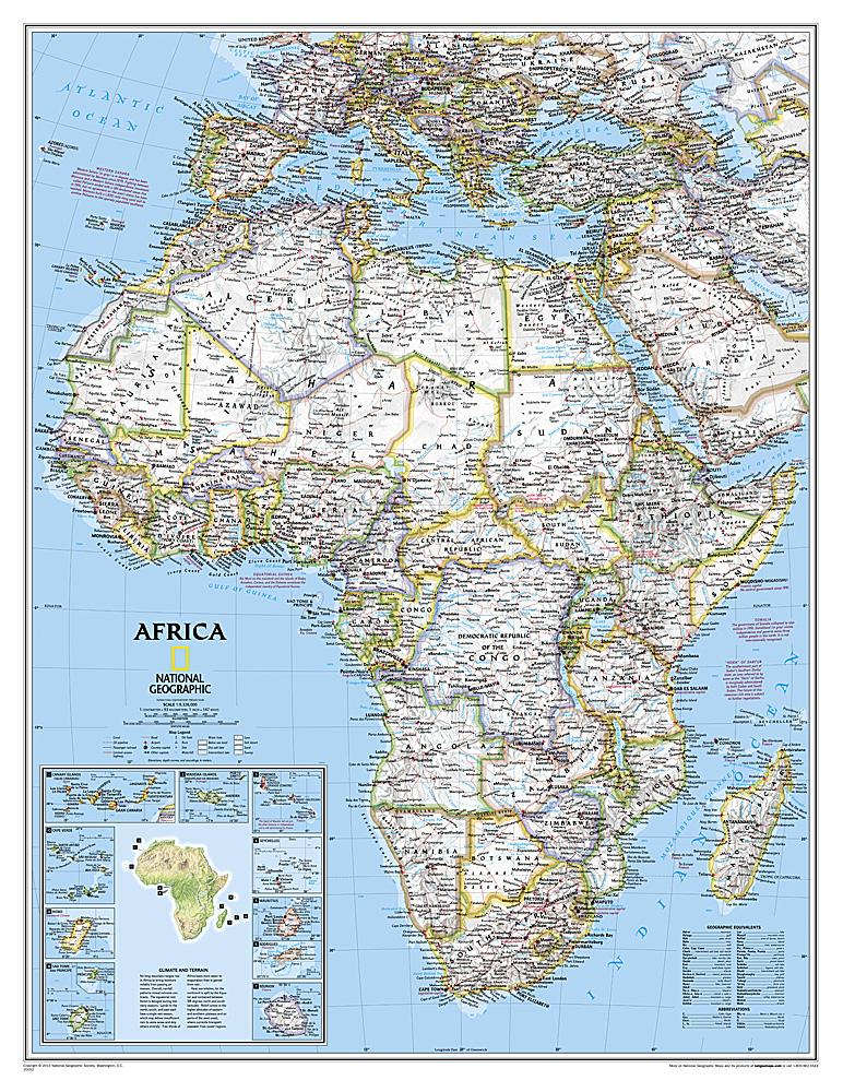 Africa Classic [Enlarged] Wall Maps EVMAPLINK Tubed