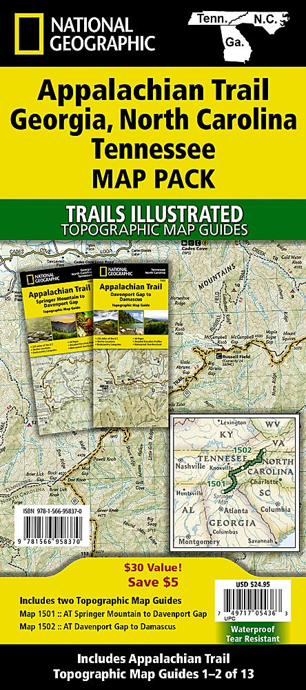 Appalachian Trail: Georgia North Carolina Tennessee [Map Pack Bundle] Trails Illustrated Maps Bundle EVMAPLINK