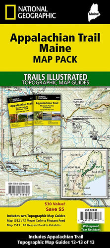 Appalachian Trail: Maine [Map Pack Bundle] Trails Illustrated Maps Bundle Map-N-Hike
