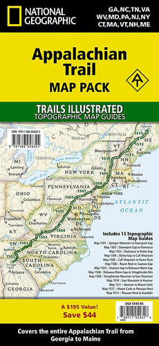 Appalachian Trail [Map Pack Bundle] Map Collection Map-N-Hike