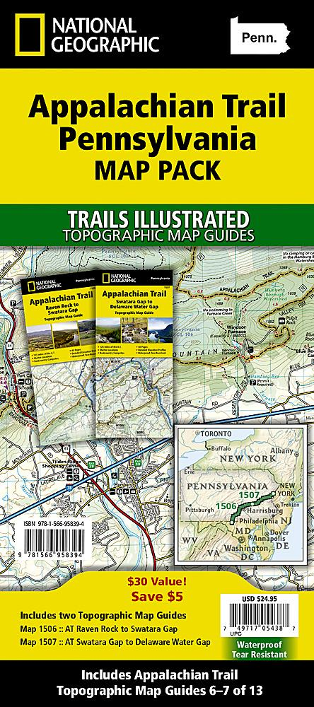 Appalachian Trail: Pennsylvania [Map Pack Bundle] Trails Illustrated Maps Bundle Map-N-Hike