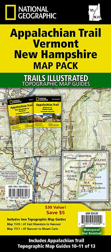 Appalachian Trail: Vermont New Hampshire [Map Pack Bundle] Trails Illustrated Maps Bundle Map-N-Hike