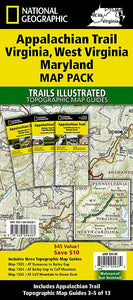 Appalachian Trail: Virginia West Virginia Maryland [Map Pack Bundle] Trails Illustrated Maps Bundle EVMAPLINK