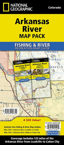 Arkansas River [Map Pack Bundle] Fishing Guide Map Bundle EVMAPLINK