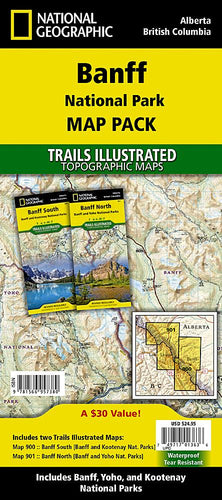 Banff National Park [Map Pack Bundle] Trails Illustrated Maps Bundle EVMAPLINK