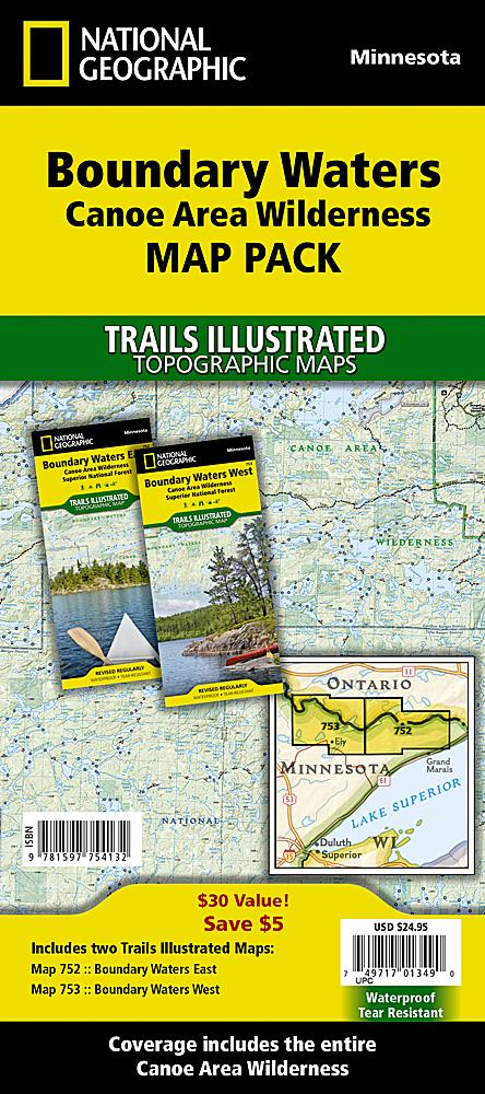 Boundary Waters Canoe Area Wilderness [Map Pack Bundle] Trails Illustrated Maps Bundle EVMAPLINK