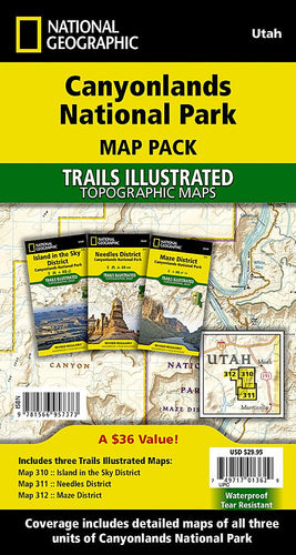 Canyonlands National Park [Map Pack Bundle] Trails Illustrated Maps Bundle EVMAPLINK
