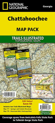 Chattahoochee National Forest [Map Pack Bundle] Trails Illustrated Maps Bundle EVMAPLINK