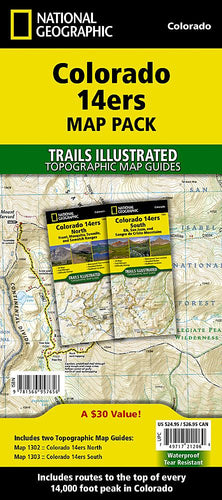 Colorado 14ers [Map Pack Bundle] Trails Illustrated Maps Bundle EVMAPLINK
