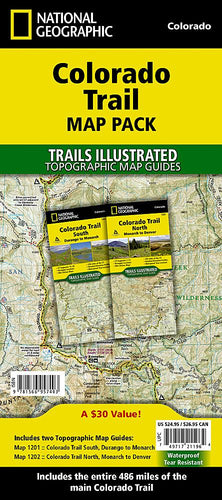Colorado Trail [Map Pack Bundle] Trails Illustrated Maps Bundle EVMAPLINK