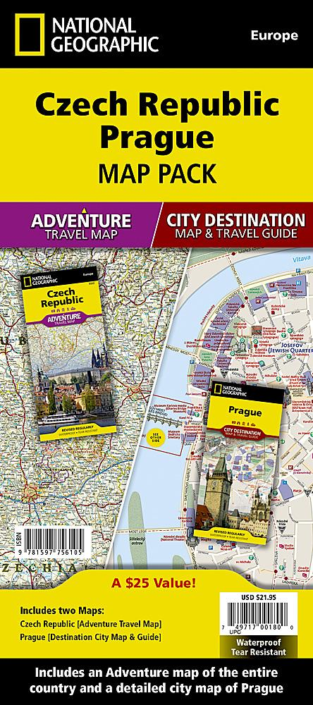 Czech Republic, Prague [Map Pack Bundle] Adventure Maps; City Destination Maps EVMAPLINK