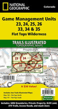 Load image into Gallery viewer, Flat Tops Wilderness GMU [Map Pack Bundle] Trails Illustrated Maps Bundle EVMAPLINK