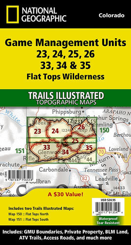 Flat Tops Wilderness GMU [Map Pack Bundle] Trails Illustrated Maps Bundle EVMAPLINK