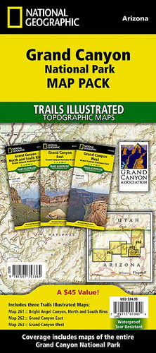Grand Canyon National Park [Map Pack Bundle] Trails Illustrated Maps Bundle EVMAPLINK