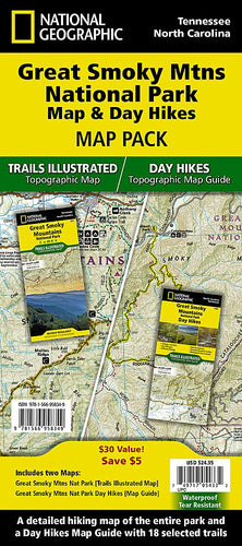 Great Smoky Mountains National Park Map & Day Hikes [Map Pack Bundle] Trails Illustrated Maps Bundle EVMAPLINK