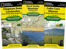 Load image into Gallery viewer, Great Smoky Mountains National Park Map & Day Hikes [Map Pack Bundle] Trails Illustrated Maps Bundle EVMAPLINK