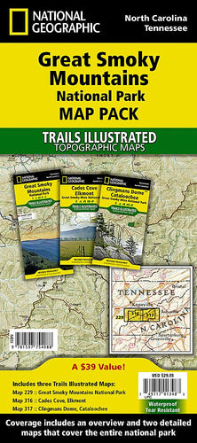 Great Smoky Mountains National Park [Map Pack Bundle] Trails Illustrated Maps Bundle EVMAPLINK