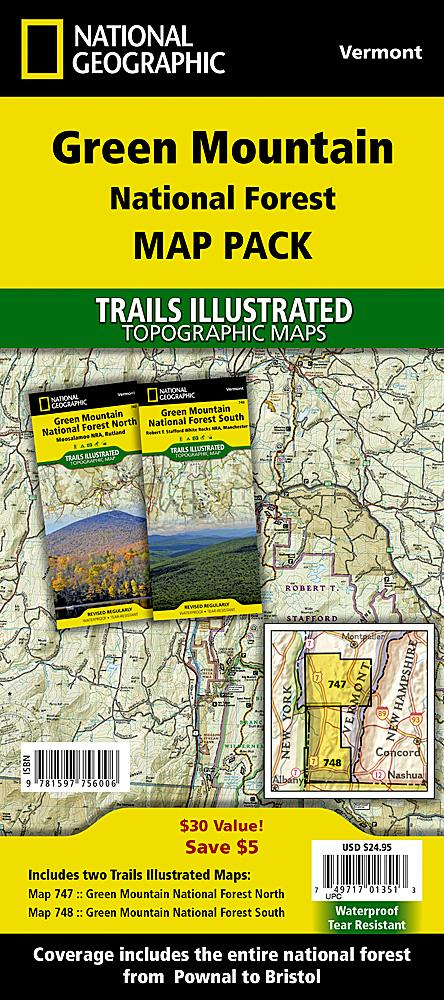 Green Mountain National Forest [Map Pack Bundle] Trails Illustrated Maps Bundle Map-N-Hike