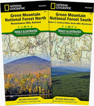Load image into Gallery viewer, Green Mountain National Forest [Map Pack Bundle] Trails Illustrated Maps Bundle Map-N-Hike