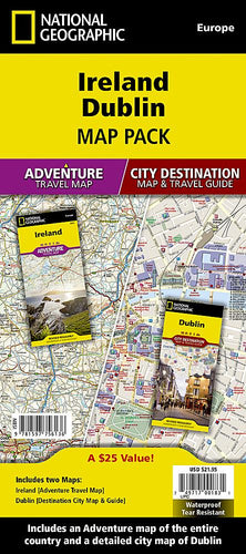 Ireland, Dublin [Map Pack Bundle] Adventure Maps; City Destination Maps EVMAPLINK