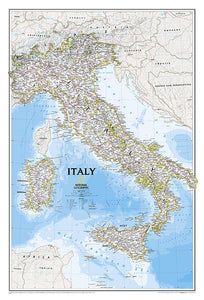 Italy Classic Wall Maps EVMAPLINK Tubed